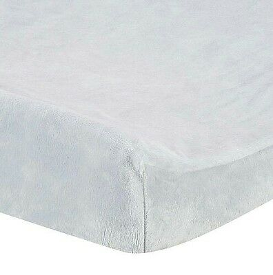 Gray Plush Changing Pad Cover