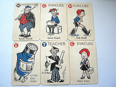 Vacuation Pepys Card Game 1939 Complete All 44 Cards Vintage Playing Card Game