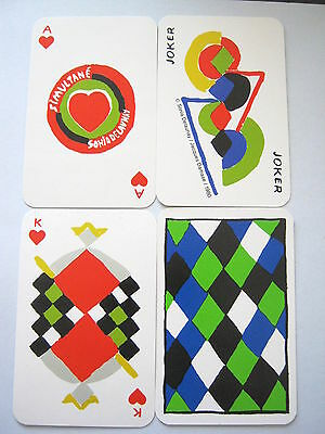 Simultane Sonia Delaunay Non Standard Vintage Playing Cards 52 + 3 Jokers