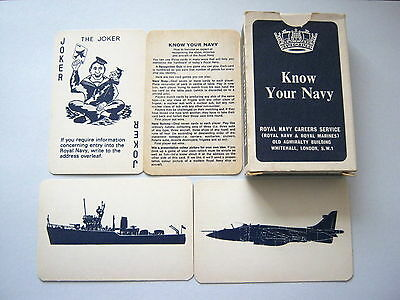 Naval Know Your Navy Vintage Playing Cards Game Complete Box & Rules 52+1J+2R