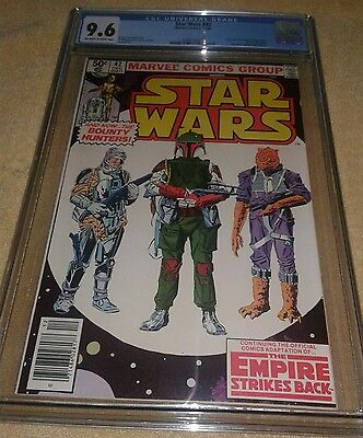 Star Wars 42 9.6 CGC Empire Strikes Back 1st Boba Fett
