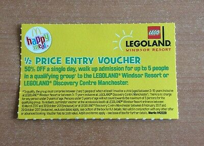 Legoland Windsor or Manchester Half Price Entry for up to 5 people