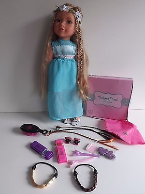 Design A Friend Doll With Extra Long Hair Clothes & Shoes And Hair Accessories
