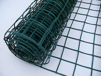 Plastic Garden Mesh 1m x 25m Green Plant Support Clematis Net Fence 50mm Holes