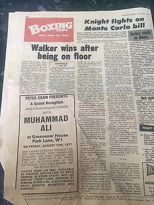 Muhammad Ali - 4 Course Dinner Advert in The Boxing News