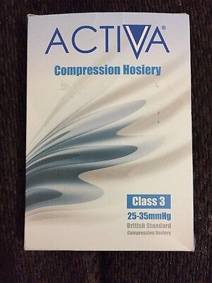 Activa Class 3 Thigh Length Open Toe Compression Hosiery 25-35mmhg Medium