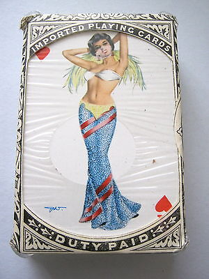 PIN UP DUTY SEALED DARLING HEINZ VILLIGER VINTAGE PLAYING CARDS ADVERT BOX 1950s