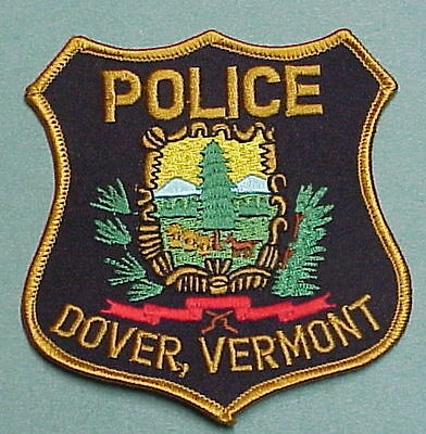 Dover  Vermont  Vt    Police Patch   Very Nice!!   Free Shipping!!!