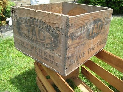 Vintage Werk's TAG Soap Wooden Crate Proctor and Gamble Cinti.,Ohio