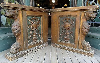 Antique Chinese? Console Table Parts With Griffin - Foo Dogs