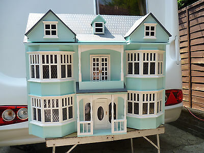 wooden  dolls house 3 storey with balcony