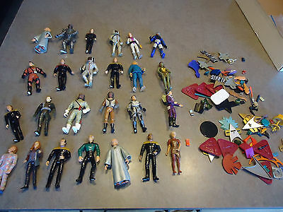 "Star Trek action figure toy lot 25pc  5"" space  B"