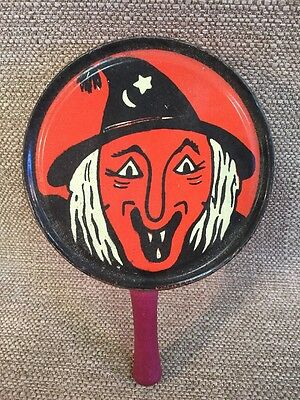 Vintage Kirchof life of the party Halloween Tin / Metal Witch noisemaker