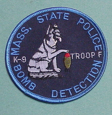 Massachusetts  K-9  Bomb Detection  State  Police Patch  Free Shipping!!!