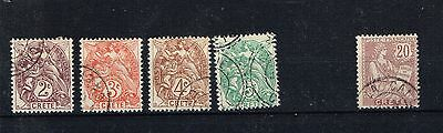 small collection 5 France colony stamps from CRETE used