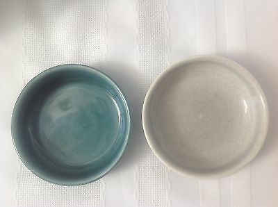 2 Vintage American Modern Russel Wright Coasters Steubenville USA XLNT Condition