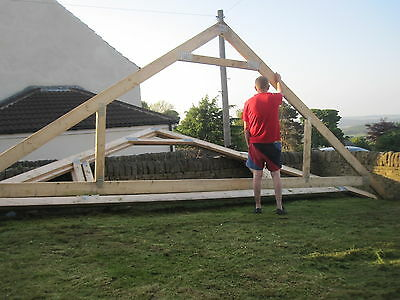 New solid wood  roof trusses