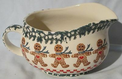 Tienshan Folkcraft Brown Gingerbread Man Gravy Boat