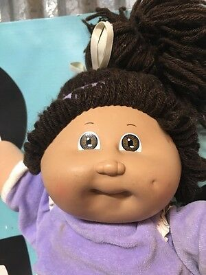 Cabbage Patch Kids Brown Hair Brown Eyes With Sports Outfit Doll