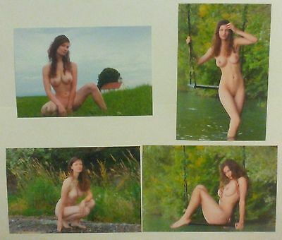 lote de 4 Fotos 10x15 Erotic Art