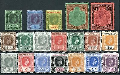 Leeward Islands 1938-51 set SG95/114b MM cat £200 - see desc
