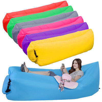 Inflatable Lazy Lounger Kids Sofa Bedroom Playroom Furniture Seat Chair Couch UK