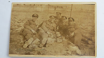 WW1 Vintage Photograph Postcard Great War Soldiers Tommies France Army Camp