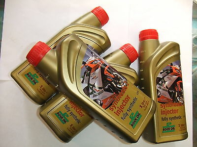 Rock Oil Synthesis 2 Fully Synthetic 2 Stroke Oil, 4 Litres, Jaso Fd