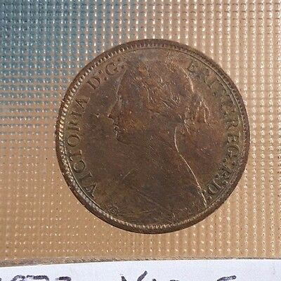 Queen Victoria 1873 FARTHING, WITH LUSTER