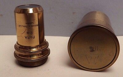 Microscope [ Objective ] W.WATSON { Brass }  Canister [ 2 Inch ]  A1 Condition