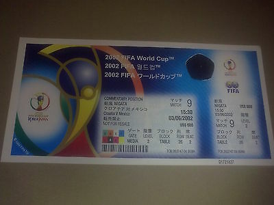 Ticket Croatia - Mexico 2002 WORLD CUP game #9