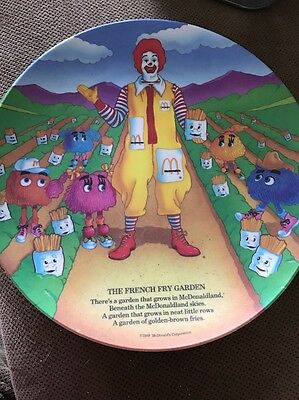 McDonald's French Fry Garden Collector 1989 Plate