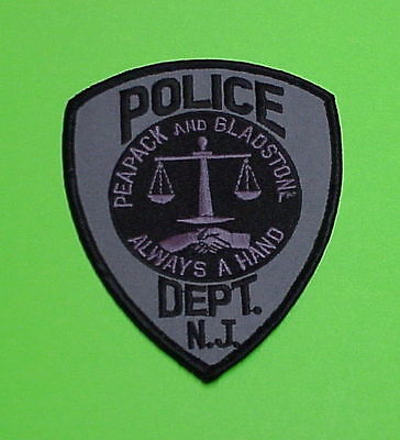 Peapack And Gladstone  New Jersey  Nj  Subdued  Police Patch   Free Shipping!!!