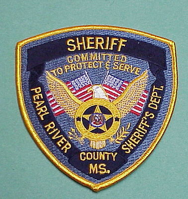 Pearl River County  Mississippi  Ms  Sheriff / Police Patch  Free Shipping!!!
