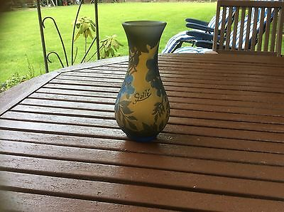 Reproduction Galle Glass Vase