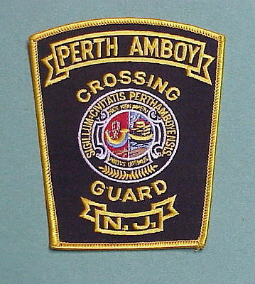 Perth Amboy  New Jersey  Nj  Crossing Guard /  Police Patch  Free Shipping!!!