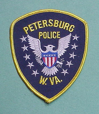 Petersburg  West Virginia  Wv  Police Patch  Nice!!   Free Shipping!!!
