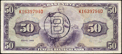 Ro.243a 50 DM / Deutsche Mark 1948 (3) B-Stempel
