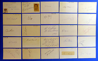 LOT OF 225 ~ 3x5 SIGNED INDEX CARDS ~ MANY TOUGH AUTOGRAPHS ~ HIGH RESALE VALUE