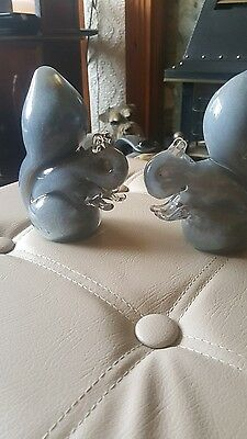 Wedgwood Squirrel Glass Paperweights/Ornaments