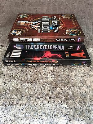 Bundle Of Doctor Who Books Inc 2017 Annual 50th Anniversary Annual Dr Who