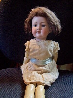antique Armand Marseille German Bisque Doll  390 /Blue Sleep Eyes needsTLC