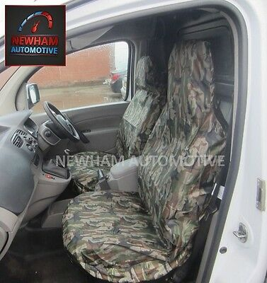 Renault Traffic (01+) Waterproof Green Camouflage Front Seat Covers 1+1