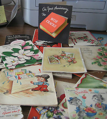 Vintage All Occasion Greeting cards Lot of 90+ Used and Unused some 3D 40-60's