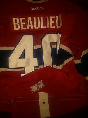 Nathan Beaulieu Montreal Canadiens Game Worn Used Rookie Jersey Buffalo Sabres