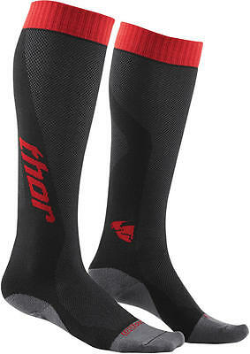 Thor Strümpfe Mx Cool S6 Long Sock Charcoal/red 6-9