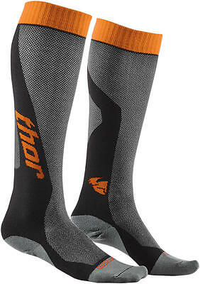 Thor Strümpfe Mx Cool S6 Long Sock Gray/orange 6-9