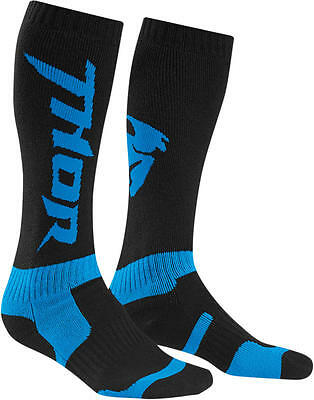 Thor Strümpfe Mx S6 Long Sock Black/cyan 10-13