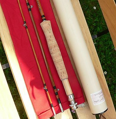 Bambou refendu canne à Pêche mouche bamboo cane fly rod fishing soie moulinet 6
