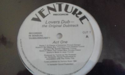 Lovers Dub - The Original Dubtrack - Venture Records - VG+ Rare Dub LP - DUB
